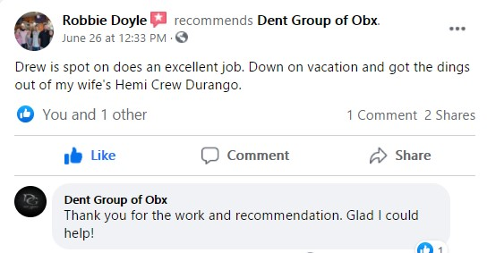 Dent group of obx recommendation